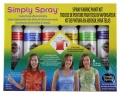 Tie Dye Party Kit Spray Fabric Paint 6 colors