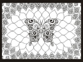 Butterfly Color Your Own Tapestry