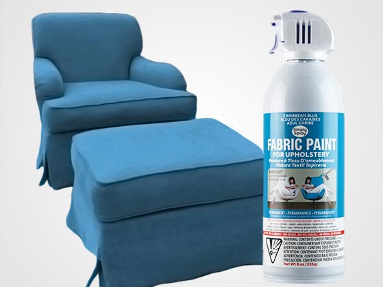 caribbean blue upholstery fabric simply spray paint. Black Bedroom Furniture Sets. Home Design Ideas