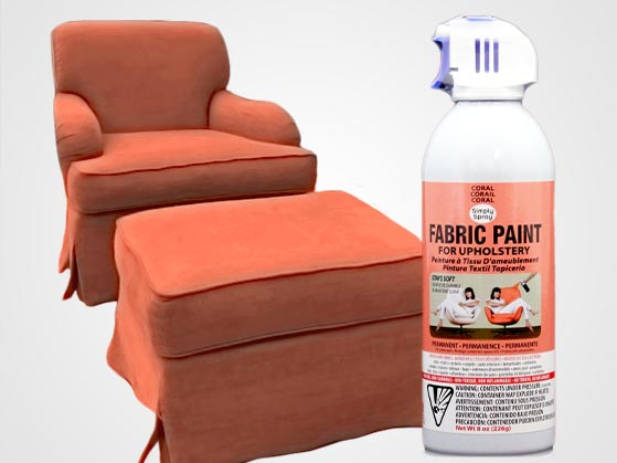 Coral Peach Upholstery Fabric Spray Paint