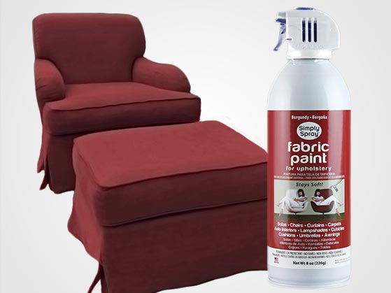 burgundy upholstery fabric spray paint. Black Bedroom Furniture Sets. Home Design Ideas