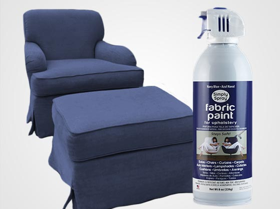 Navy Blue Upholstery Fabric Spray Paint