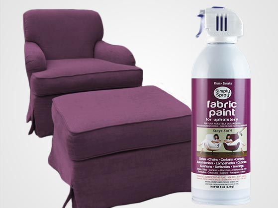 Plum Upholstery Fabric Spray Paint
