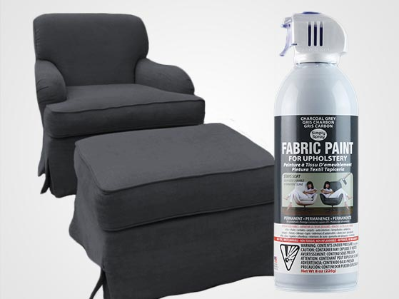 Charcoal Grey Upholstery Fabric Spray Paint