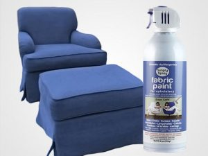 Periwinkle Upholstery Fabric Spray Paint