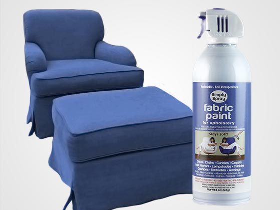 periwinkle upholstery fabric spray paint. Black Bedroom Furniture Sets. Home Design Ideas
