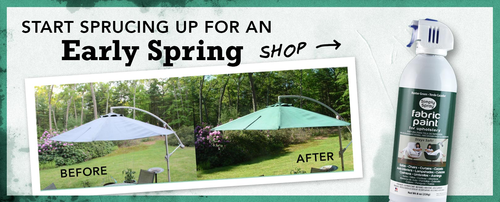 Spruce Up for Early Spring with Fabric Spray Paint